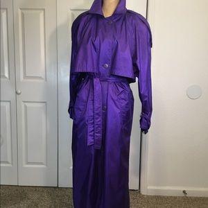 Vintage Purple Trench Coat